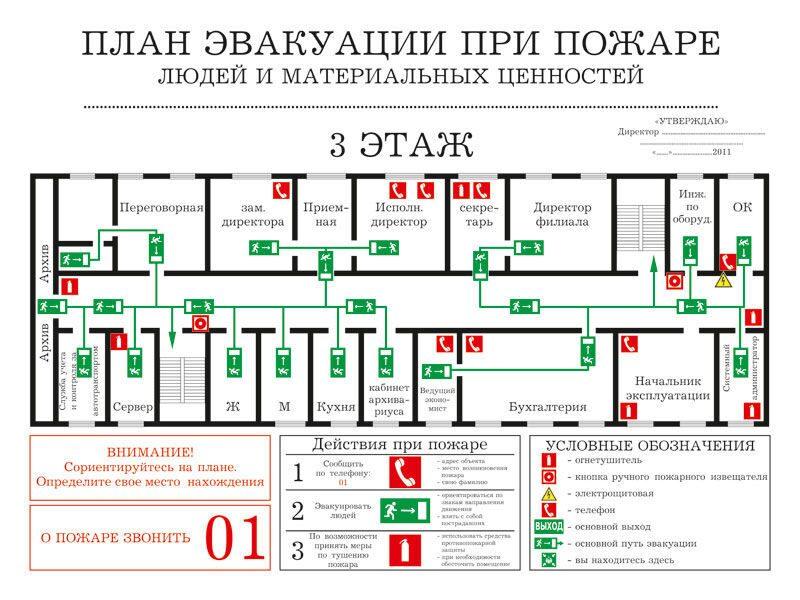 Скачать ключ для план эвакуации 9