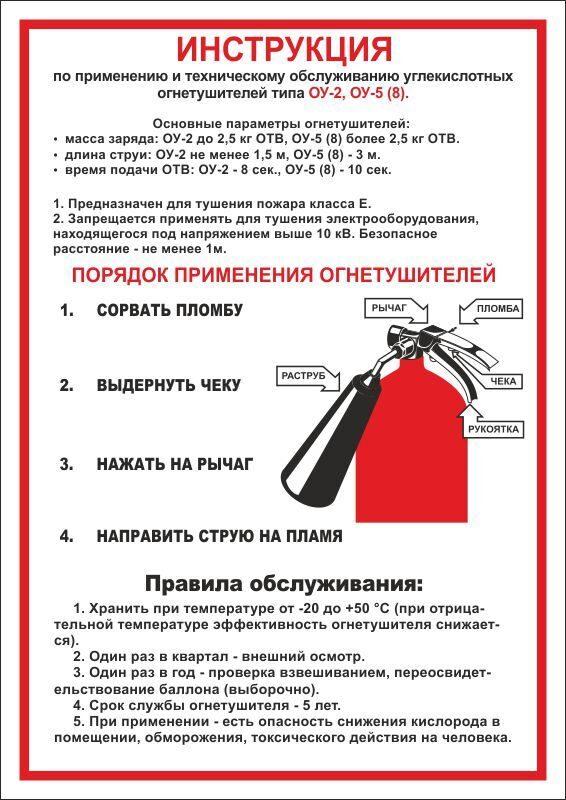 инструкция по использованию огнетушителя оп-4